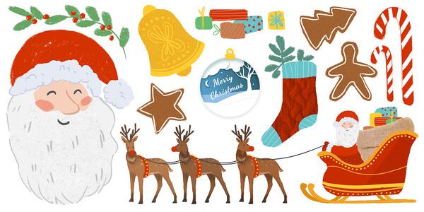 Raamsticker kerstman